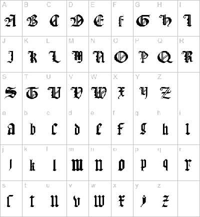 Готические шрифты.