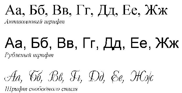 шрифт с засечками: